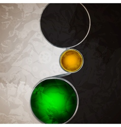 Abstract background with glass balls as speech vector image