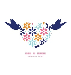 Abstract colorful stars birds holding heart vector