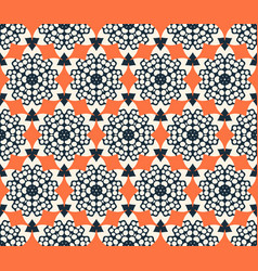 Abstract seamless flower pattern geometric simple vector