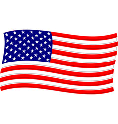 american flag graphic vector image