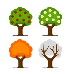Apple Tree Set vector image