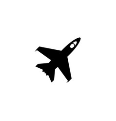 Armed jet fighter flight war plane flat icon vector