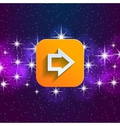 Arrow in night style UI vector image