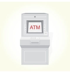 Atm machine isolated vector