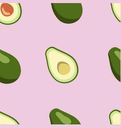 Avocado pattern on pink background digital paper vector