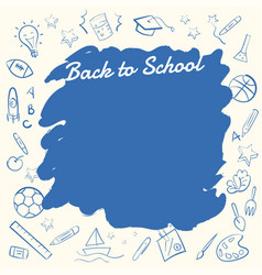 back to school banner background with copy space vector image