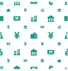 Bank icons pattern seamless white background vector