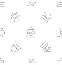 beekeeper icon outline style vector image