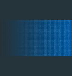 binary code halftone background zero and one vector image