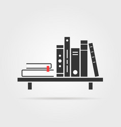 book shelf with shadow vector image