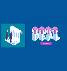 business deal banner vector image