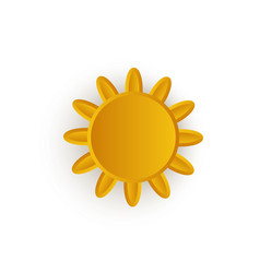 cartoon sun icon symbol isolated vector image