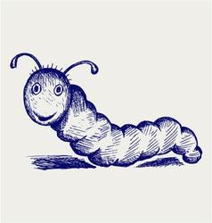 Caterpillar cartoon vector image