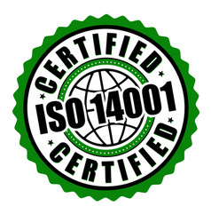 Certified iso 14001 label or sticker vector