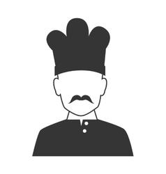 Chef profile avatar icon vector image
