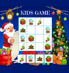 Child christmas logical rebus kids crossword vector