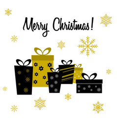 christmas card with christmas presents vector image