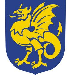 Coat of arms of bornholm in denmark vector
