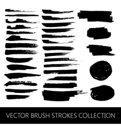 Collection brush strokes and marker stains vector