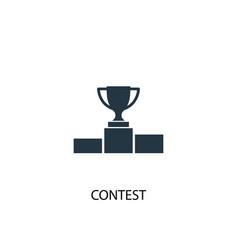 Contest icon simple element contest vector