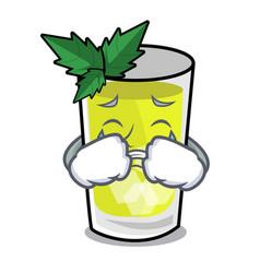 Crying mint julep mascot cartoon vector