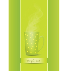 cup of tea vector image