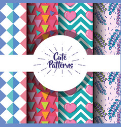 cute patern abstract geometric background design vector image