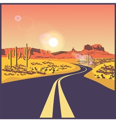 desert road vector image