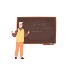 Elderly male college teacher university professor vector