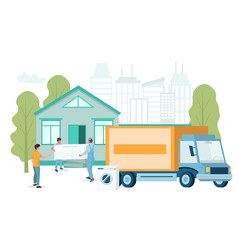 electronics delivery service concept flat vector image