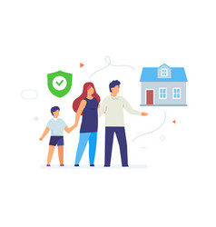 Family home mortgage housing comfort vector