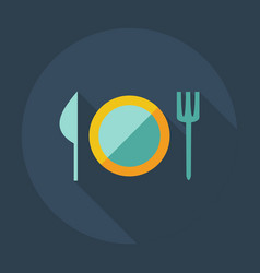 Flat modern design with shadow icons dishes vector