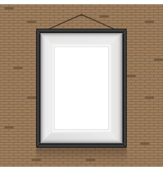 Frame for paintings or photographs on brick vector