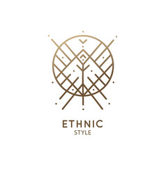 Geometric sacred abstract emblem tattoo vector