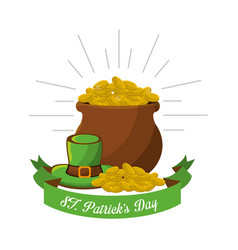 Goblin patricks day icon vector