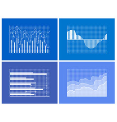 Graphics and charts set poster vector