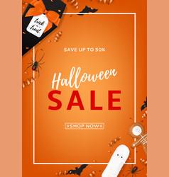 Halloween sale flyer vector