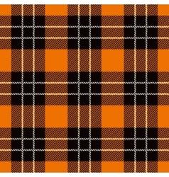 Halloween tartan seamless pattern vector
