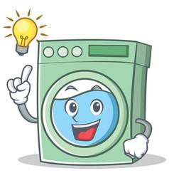 Have an idea washing machine character cartoon vector