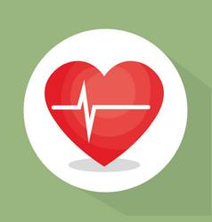 Heart cardio healthy lifestyle vector