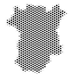Hexagon chechnya map vector