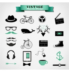 Hipster style elements icon and object can be used vector image