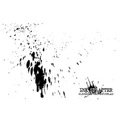 ink splatter elements on white background vector image