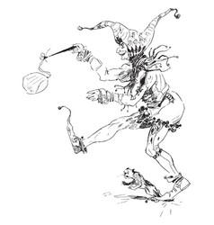 jester vintage vector image