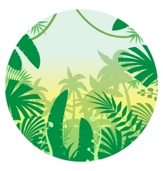 Jungle Flat Background13 vector image