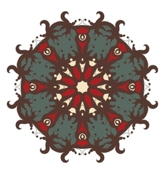 Mandala on isolated background vector image