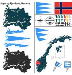 Map of Sogn og Fjordane vector