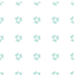 network connection icon pattern seamless white vector image