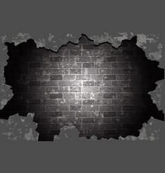Old brick wall black vector