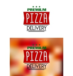 Pizza delivery labels vector